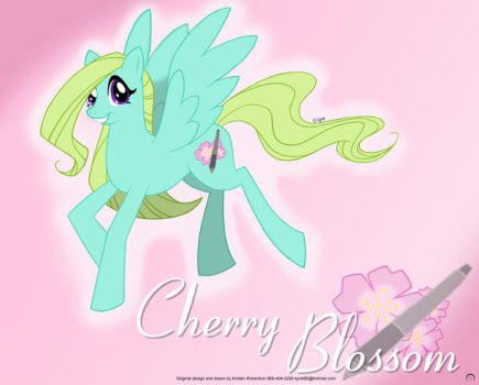 MLP OC: Cherry Blossom by Howling-Wolf-Design