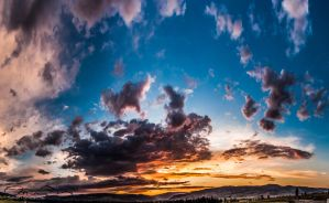 Sunset over Merritt,BC by Seanstdenis