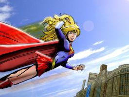supergirl by jeffwildstar
