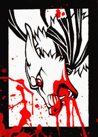 ACEO Martyred by CanisAlbus
