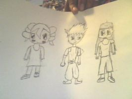 Me Sabrina and Cassy chibi by Zion500
