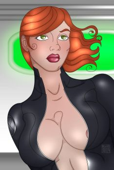Black widow bust DRESS by Aresdei