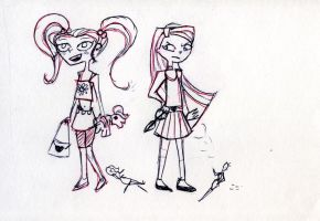 TDI kids Heather and Lindsey by SySaiyan