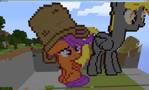 Scootaloo minecraft by Neddlez
