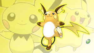 Pichu, Pikachu, and Raichu Wallpaper by Glench