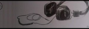 un casque Marshall. by graphi-corp