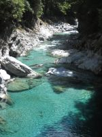 The Blue Pools, New Zealand by Guppy0031