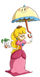 Princess Peach by happydoodle