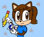 Anthey the Cat Drawing Sonic by anthey925