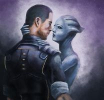 MShep x Liara - request by jocker909