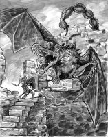 Hero Hynreck and the Dragon Smerg by brentb9702