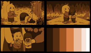 Golden Story (undertale MY OC comic)-3 by Pinkapop
