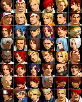 KOF 2002 Cast by topdog4815