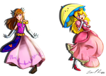 Princesses of Nintendo by brittninja
