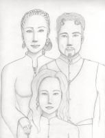 Olga, Ethan and Hilda Maike by Donniebellorniere