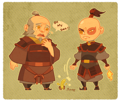 Zuko and uncle Iroh by freestarisis