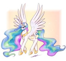 Princess Celestia by Soul-Soar