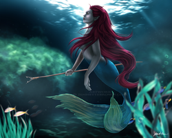 Underwater Huntress by sugarpoultry