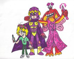 Me, Bibleman, and Fairy jar jar by SonicClone