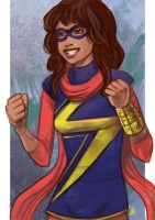 Daily Sketches MS Marvel by fedde