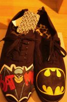 Batman painted shoes by karka17