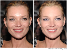 Retouch Kate Moss by Giraffina