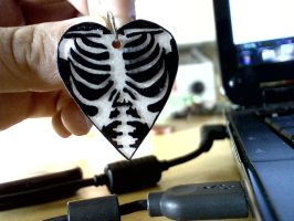 ribcage heart necklace by pnuewave