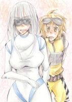 Human Wall-e and Eve by marsbarrl