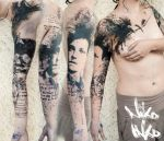 Graphic tattoo about Rimbaud, childhood, and death by Niko-Inko
