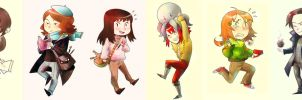 Dysfunctionals: experimental chibies by analmouse