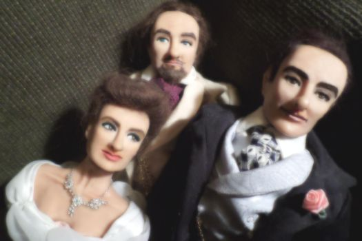 Group Shot #2 of Dorian Gray character dolls by R-Marie