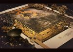 Large A1 print of Eros and Thanatos by Yoann-Lossel