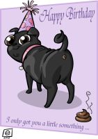 Birthday Pug by e4animation