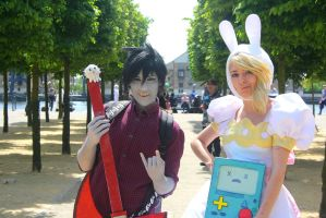 Adventure Time - Marshall Lee and Fionna by charlottepiref