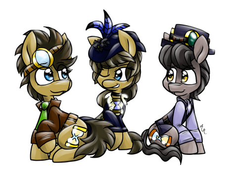 Two Doctor Whooves and a Doctress by GallifreyanGirl15