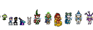 Rayman Legends Sprites by ElectricStaticGamer