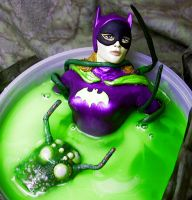 Batgirl vs slime pit monster by TeenTitans4Evr