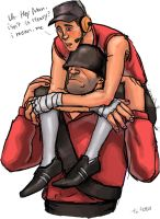 TF2 soldier and scout by DeepPurpleindair