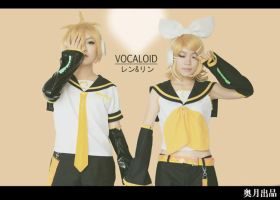 VOCALOID LEN and RIN by ishikomu