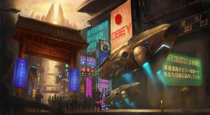 Petaling Street, year 2211 by leonwoon