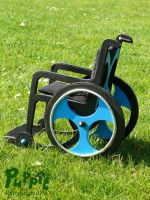 Custom doll wheelchair - left side by PuppitProductions