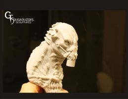Alien Bust Resin Kit by giolord11
