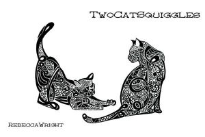 TwoCatSquiggles by nevermindless