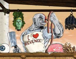 Kratos the Good Butcher by Gewelt