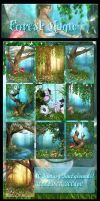 Forest Magic backgrounds by moonchild-ljilja