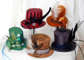 Little Hats - five of them... by Indirie