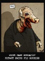 Swine Flu Zombie by TmoeGee
