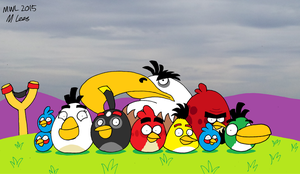 Angry Birds by anthromutants