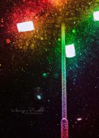 Rainbow colored snow by Piroshki-Photography