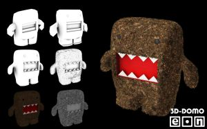 Domo-kun 3D Overview by Eonn